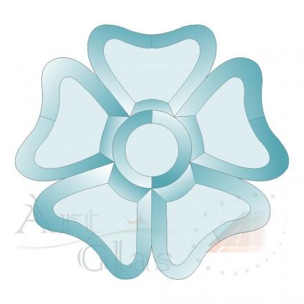 BD-53 Набор из 6 бевелсов цветок 173х175мм; 100х100мм